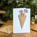Personalised Keepsake Flowers Card