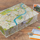 Personalised London Map Travel Keepsake Box