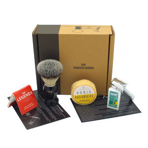 Traditional Barber's Shaving Starter Kit - shaving