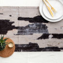 Abstract Textured Cotton Table Runner 'Monochrome'