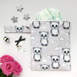 Panda And Cloud Nappy Changing Bag - baby changing