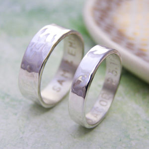 Personalised Silver His And Hers Rings - rings