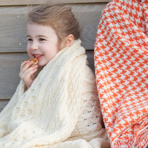 Cable Knit Blanket - blankets & throws