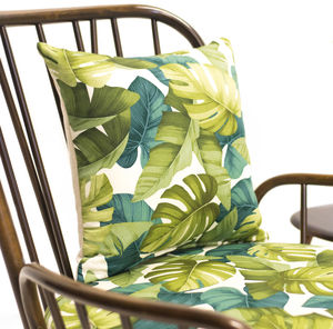 Green Palm Leaf Cushion Cover