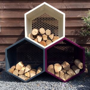 Log Store Pods - cosy outdoor inspiration
