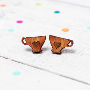 Tea Cup Earrings Small