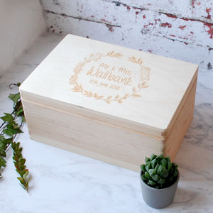 Personalised Couples Memory Box - keepsake boxes