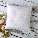 Wedding Anniversary Personalised Floral Cushion Cover