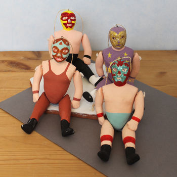 Mexican Wrestler Figure Decoration