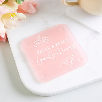 Nanny Gift Personalised Foil Coaster