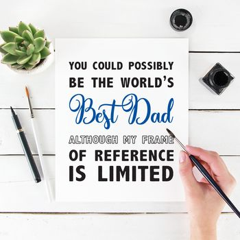 Best Dad Possibly Fathers Day Card