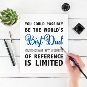 Best Dad Possibly Fathers Day Card - funny cards
