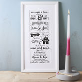 Typographic Story Of Us Print - wedding gifts