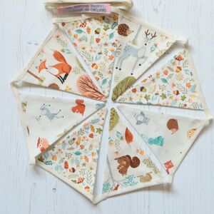 Woodland Animals Mini Cotton Bunting