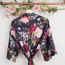 Luxury Watercolour Personalised Dressing Gown Floral