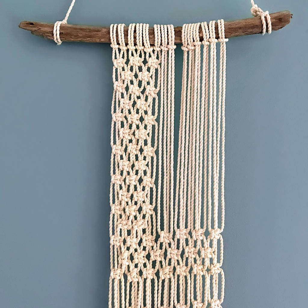 Diy Valentines Love Macrame Wall Hanging Kit By Wool