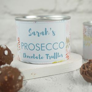 Prosecco Infused Chocolate Truffles