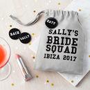 Personalised Bride Squad Hen Night Bag