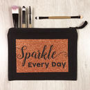 Sparkle Every Day Copper Glitter Make Up Bag