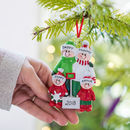 Family Personalised Christmas Decoration With Shovel