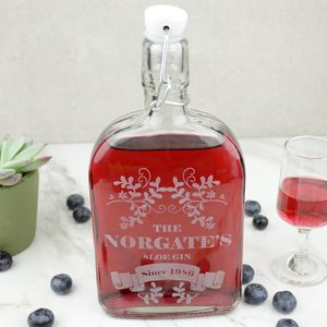 Sloe Gin Personalised Bottle - jugs & bottles