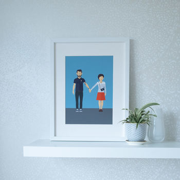 Personalised Couple Portrait Illustration Print