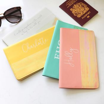 Personalised Slim Travel Wallet