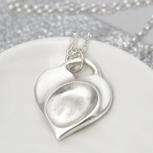 Fingerprint Heart Padlock Pendant - necklaces & pendants