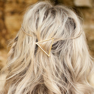 Triangle Hair Clip Gold Or Silver