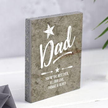 Personalised Keepsake For Dad