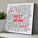 'Best Mum, Best Dad' Personalised Typographic Art Block
