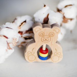 Teddy Eco Baby Rattle - whatsnew