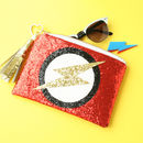Superhero Enthusiasts Glitter Clutch Bag Gift