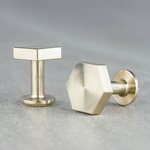 Hexagon Bronze Aluminium Cufflinks - lust list for him
