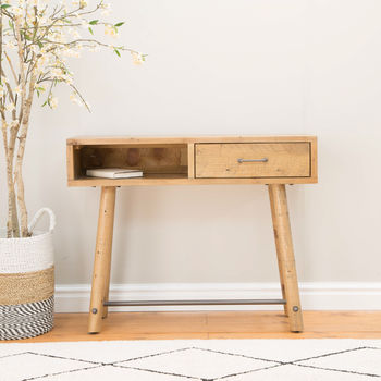 Preston Reclaimed Console Table With Drawer