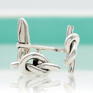 Sterling Silver Infinity Knot Cufflinks