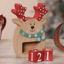 Wooden Reindeer Christmas Countdown Blocks