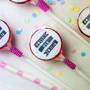 Personalised Alcoholic Hen Do Lollipops - sweets