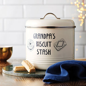 Personalised Biscuit Barrel - best gifts for fathers