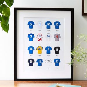 Classic Kits Football Team Print
