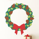 Build Your Own Christmas Wreath Vinyl Wall Sticker Kit