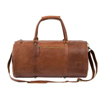 Personalised Leather Classic Duffle