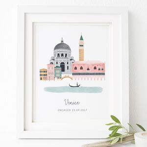 Personalised Venice City Print