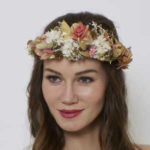 Coral Retro Horseshoe Crown - hair pieces
