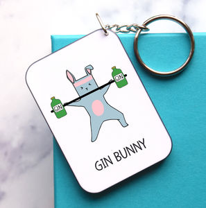 'Gin Bunny' Gin Keyring - women's accessories