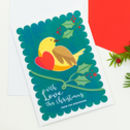 Set Of Personalised Christmas Cards With Robin