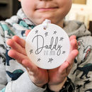Daddy Ceramic Stars Personalised Keepsake Decoration