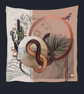 Alice Acreman Silks 'Nevada' Illustrated Silk Scarf