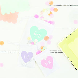 Personalised Pastel Heart Gift Bag