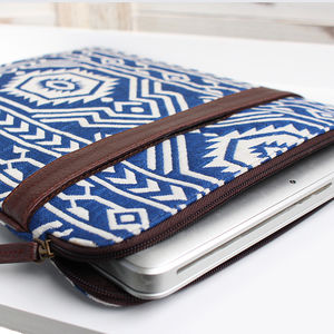 Blue Jazz Vegan Laptop Case - bags